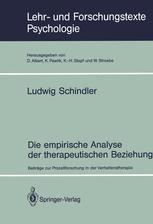 Die empirische Analyse der therapeutischen Beziehung