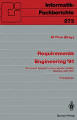 Requirements Engineering '91