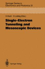 Single-Electron Tunneling and Mesoscopic Devices