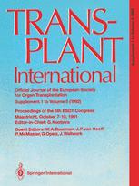Transplant International Official Journal of the European Society for Organ Transplantation