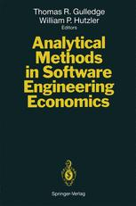 Analytical Methods in Software Engineering Economics