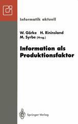 Information als Produktionsfaktor