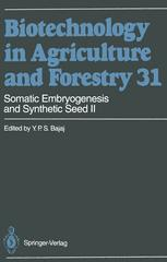 Somatic Embryogenesis and Synthetic Seed II