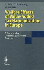 Welfare Effects of Value-Added Tax Harmonization in Europe