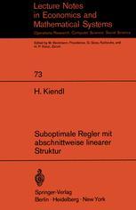 Suboptimale Regler mit abschnittweise linearer Struktur