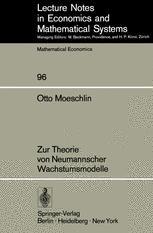 Zur Theorie von Neumannscher Wachstumsmodelle