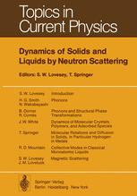 Dynamics of Solids and Liquids by Neutron Scattering