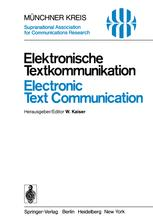 Elektronische Textkommunikation / Electronic Text Communication