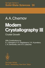 Modern Crystallography III