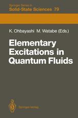 Elementary Excitations in Quantum Fluids