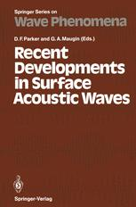 Recent Developments in Surface Acoustic Waves
