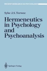 Hermeneutics in Psychology and Psychoanalysis