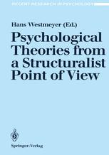 Psychological Theories from a Structuralist Point of View