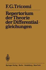 Repertorium der Theorie der Differentialgleichungen