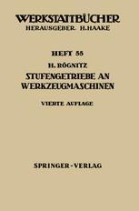 Stufengetriebe an Werkzeugmaschinen