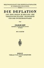Die Deflation und Ihre Praxis in England · den Vereinigten Staaten · Frankreich und der Tschechoslowakei