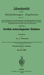 Jahresbericht über die Beobachtungs-Ergebnisse