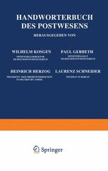Handwörterbuch des Postwesens
