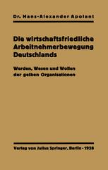 Die wirtschaftsfriedliche Arbeitnehmerbewegung Deutschlands