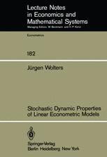 Stochastic Dynamic Properties of Linear Econometric Models
