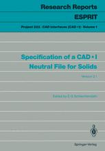 Specification of a CAD*I Neutral File for Solids