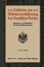 Leitfaden zur Arbeiterversicherung des Deutschen Reichs