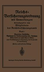Reichs-Versicherungsordnung mit Anmerkungen