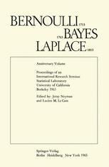 Bernoulli 1713 Bayes 1763 Laplace 1813