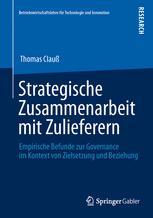 Strategische Zusammenarbeit mit Zulieferern