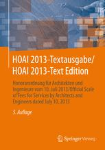 HOAI 2013-Textausgabe/HOAI 2013-Text Edition