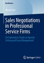 Sales Negotiations in Professional Service Firms