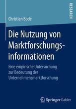 Die Nutzung von Marktforschungsinformationen