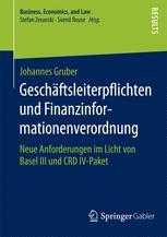 Geschäftsleiterpflichten und Finanzinformationenverordnung