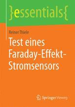 Test eines Faraday-Effekt-Stromsensors