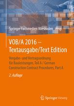 VOB/A 2016 - Textausgabe/Text Edition