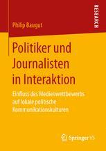 Politiker und Journalisten in Interaktion