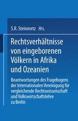 Rechtsverhältnisse von eingeborenen Völkern in Afrika und Ozeanien