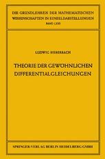 Theorie der Gewöhnlichen Differentialgleichungen