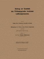 Beitrag zur Kenntnis des Wirkungsgrades trockener Luftkompressoren