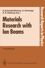 Materials Research with Ion Beams