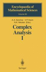 Complex Analysis I