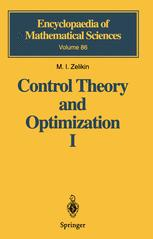 Control Theory and Optimization I