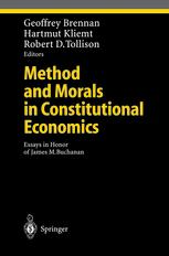 Method and Morals in Constitutional Economics