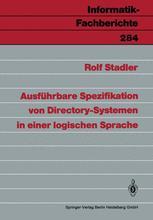 Ausführbare Spezifikation von Directory-Systemen in einer logischen Sprache