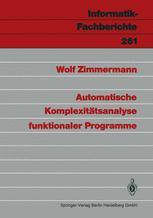Automatische Komplexitätsanalyse funktionaler Programme