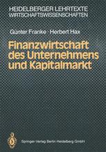 Finanzwirtschaft des Unternehmens und Kapitalmarkt