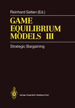Game Equilibrium Models III