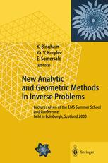 New Analytic and Geometric Methods in Inverse Problems
