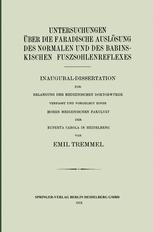 Untersuchungen über die Faradische Auslösung des Normalen und des Babinskischen Fuszsohlenreflexes