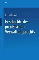 Geschichte des Preußischen Verwaltungsrechts